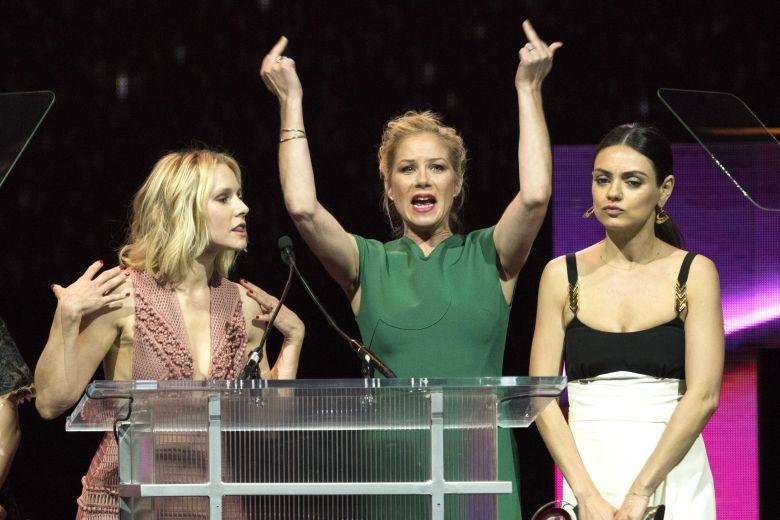 Kristen Bell, Christina Applegate and Mila KunisBig Screen Achievement Awards show, CinemaCon, Las Vegas, America - 14 Apr 2016