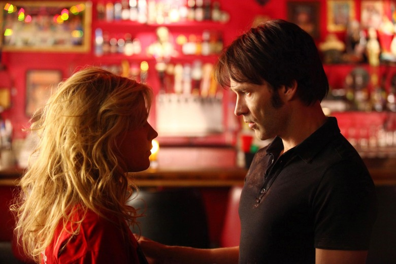 No Merchandising. Editorial Use Only. No Book Cover Usage. Mandatory Credit: Photo by Hbo/REX/Shutterstock (5886290er) Anna Paquin, Stephen Moyer True Blood - 2008 Hbo USA Television