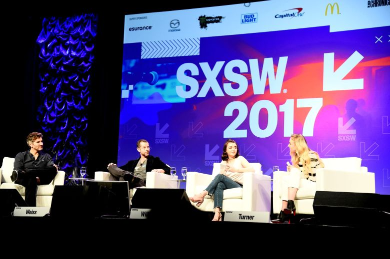 David Benioff, D. B. Weiss, Maisie Williams and Sophie Turner'Game of Thrones' TV series panel, SXSW Festival, Austin, USA - 12 Mar 2017