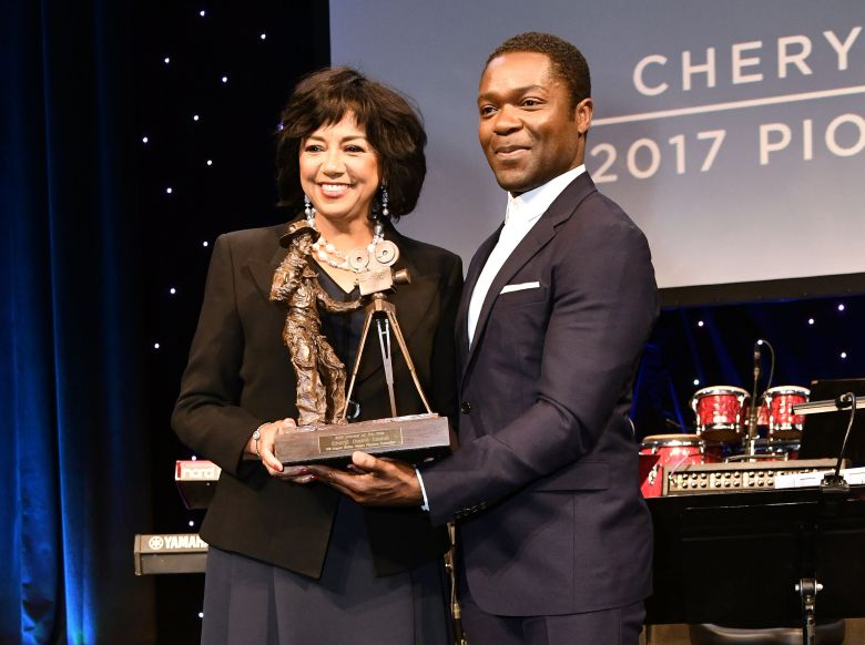 Cheryl Boone Isaacs and David OyelowoPioneer of the Year dinner, CinemaCon, Las Vegas, USA - 29 Mar 2017