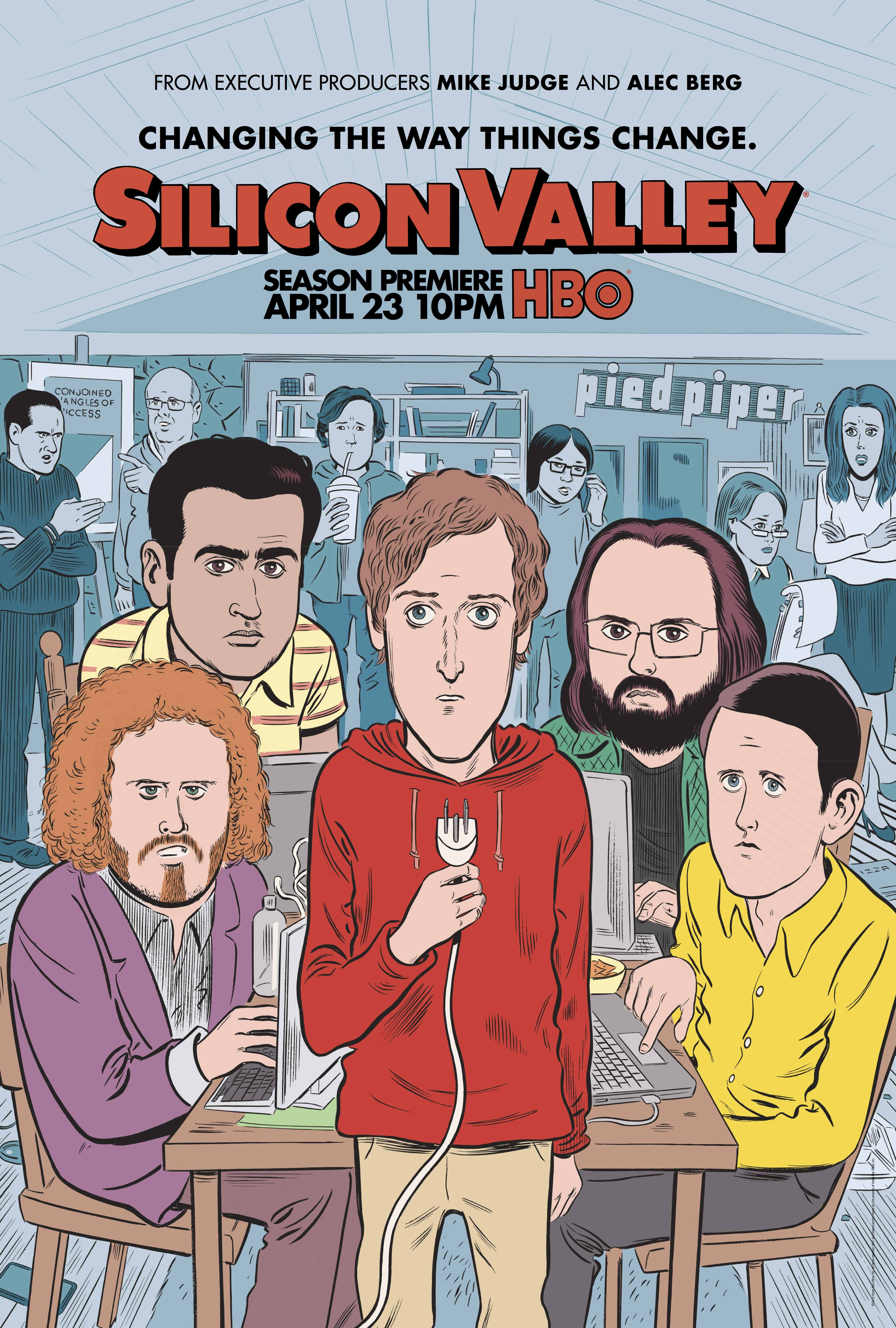Silicon Valley Season 4Daniel Clowes Poster
