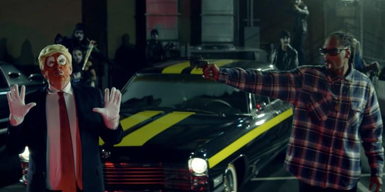 Snoop Dogg in BADBADNOTGOOD video for 'Lavender', Donald Trump