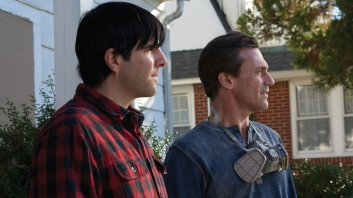Actor/producer Zachary Quinto as Josh Norman and actor Jon Hamm as Craig in writer/director Brian Shoaf's film AARDVARK. Photo credit: Walter Thomson.