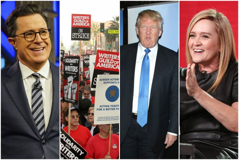 Stephen Colbert, the 2007-08 Writers Strike, Donald Trump, Samantha Bee