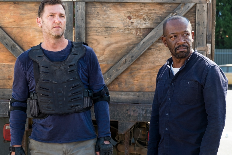 Lennie James as Morgan Jones, Karl Makinen as Richard - The Walking Dead _ Season 7, Episode 14 - Photo Credit: Gene Page/AMC