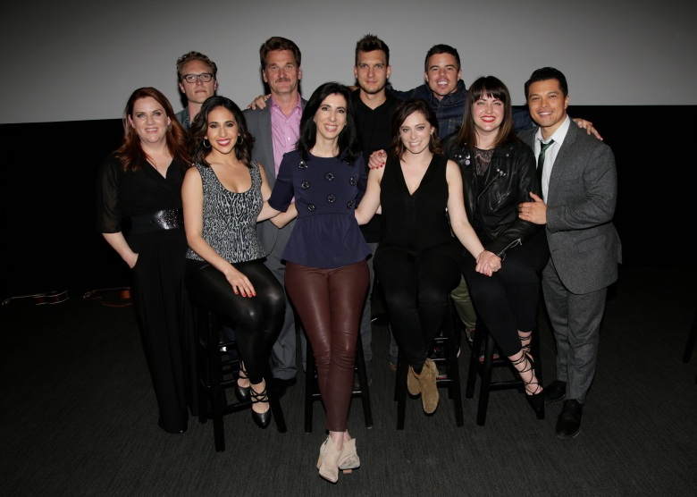 The Cast of CRAZY EX-GIRLFRIEND during the 'For Your Consideration Event held at the Wolf Theatre, Saban Media Center at the Television Academy on Tuesday, April 4th. Photo: Francis Specker/CBS © 2017 CBS Television Studios. All Rights Reserved.