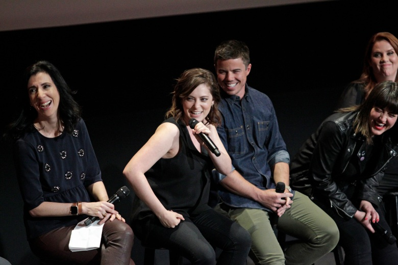 Pictured (l-r): Aline Brosh McKenna; Rachel Bloom; David Hull; Kathryn Burns; during the 'For Your Consideration Event' for CRAZY EX-GIRLFRIEND, held at the Wolf Theatre, Saban Media Center at the Television Academy on Tuesday, April 5th in North Hollywood, Ca. Photo: Francis Specker/CBS © 2017 CBS Television Studios. All Rights Reserved.