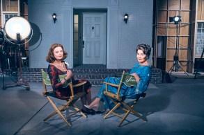 FEUD: BETTE & JOAN -- Pictured: (l-r) Susan Sarandon as Bette Davis, Jessica Lange as Joan Crawford. CR: Kurt Iswarienko/FX.