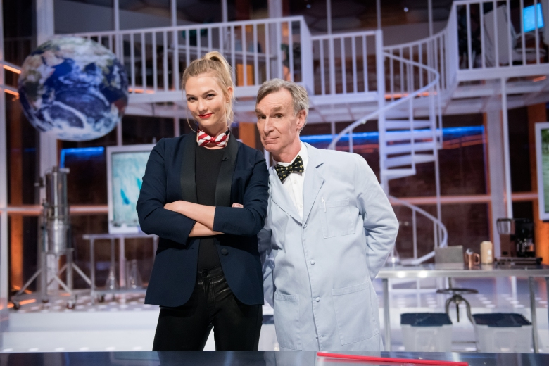 "Karlie Kloss and Bill Nye, ""Bill Nye Saves the World"""