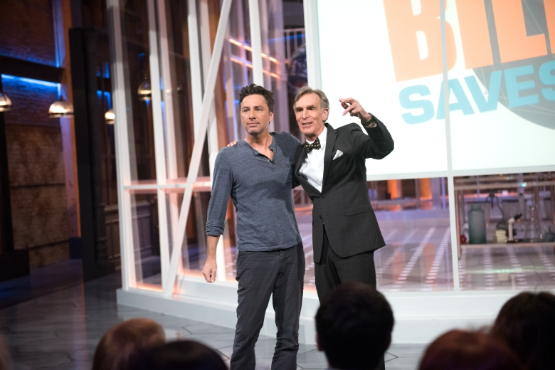 "Zach Braff and Bill Nye, ""Bill Nye Saves the World"""