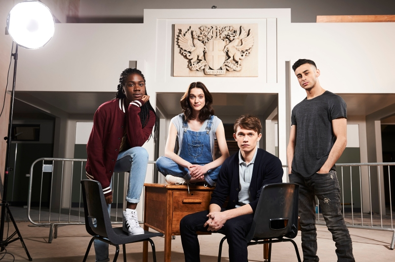 "Vivian Oparah, Sophie Hopkins, Grant Austin, Fady Elsayed in ""Class"""