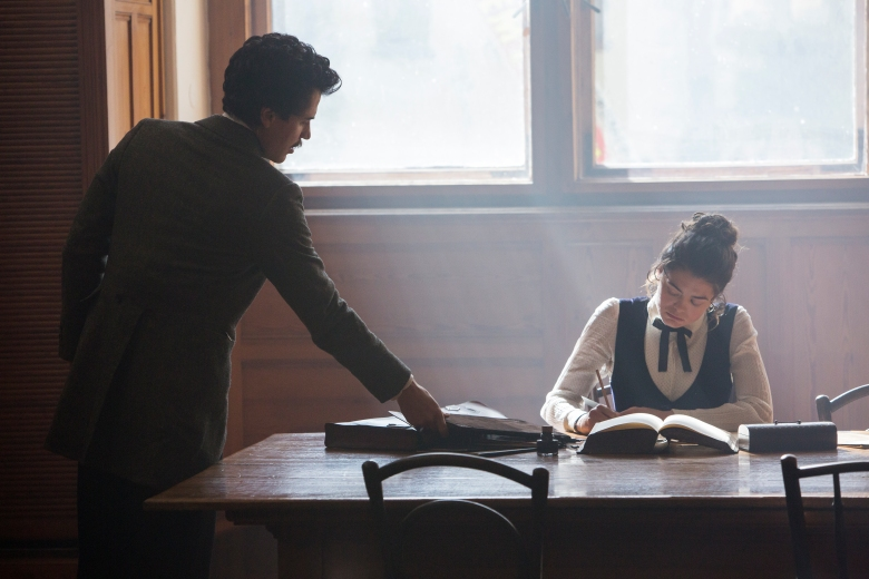 Czech Republic - Johnny Flynn stars as young Albert Einstein with Samantha Colley (Mileva Maric) in National Geographic's Genius (National Geographic/Dusan Martincek)