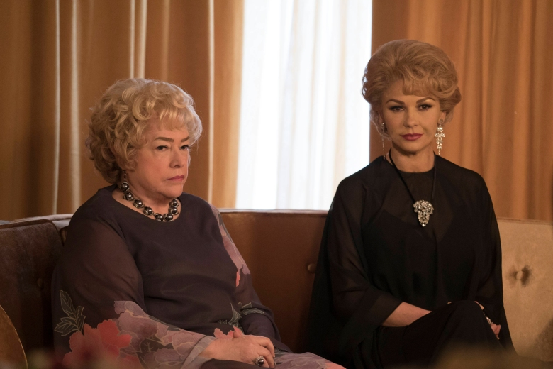 """You Mean All This Time We Could Have Been Friends?"" -- Installment 1, Episode 8 (Airs Sunday, April 23, 10:00 p.m. e/p) -- Pictured: (l-r) Kathy Bates as Joan Blondell, Catherine Zeta-Jones as Olivia de Havilland. CR: Ali Goldstein/FX"