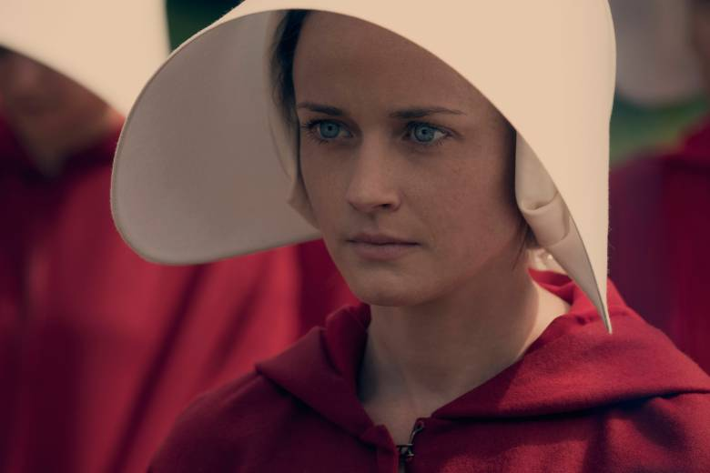 "The Handmaid's Tale  -- ""Offred"" -- Episode 101 -- Offred, one the few fertile women known as Handmaids in the oppressive Republic of Gilead, struggles to survive as a reproductive surrogate for a powerful Commander and his resentful wife. Ofglen (Alexis Bledel), shown. (Photo by: George Kraychyk/Hulu)"