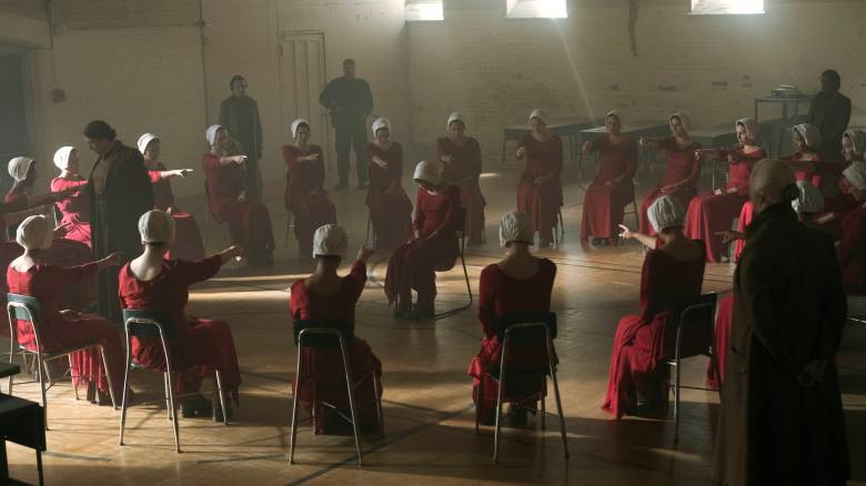 "THE HANDMAID'S TALE -- ""Offred"" - Episode 101 - Offred, one the few fertile women known as Handmaids in the oppressive Republic of Gilead, struggles to survive as a reproductive surrogate for a powerful Commander and his resentful wife. (Photo by: George Kraychyk/Hulu)"