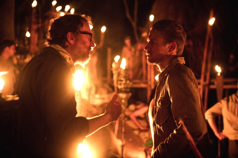 "James Gray & Charlie Hunnam on the set of ""The Lost City of Z"""
