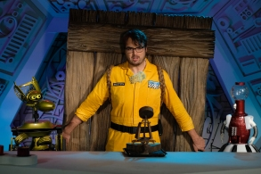 'Mystery Science Theater 3000' starring Mark Hamill, Jonah Ray, Hampton Yount, Baron Vaughn,  Rebecca Hanson, Tim Blaney, Joel Hodgson, & Elliot Kalan.  Photo by Darren Michaels, SMPSP