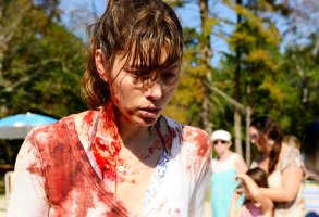 """THE SINNER """"Pilot"""" Episode 101 -- Pictured: Jessica Biel as Cora -- (Photo by: Brownie Harris/USA Network)"""
