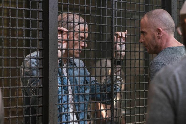 "PRISON BREAK: L-R: Wentworth Miller and Dominic Purcell in the all-new ""Ogygia"" event series premiere episode of PRISON BREAK airing Tuesday, April 4 (9:00-10:00 PM ET/PT), on FOX. CR: FOX. © 2017 FOX Broadcasting Co."