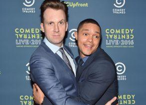 Jordan Klepper and Trevor NoahComedy Central Live 2016 Upfront, New York, America - 31 Mar 2016
