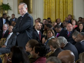 "Bill O'Reilly Television personality Bill O'Reilly waits for the start of an event in the East Room of the White House,, in Washington. Joined at the White House by young men of color, President Barack Obama was calling on America's businesses, philanthropists and government leaders to join forces to put more boys on a path toward successful lives. Foundations were to announce pledges to spend at least $200 million over five years to promote that goal as Obama launches his ""My Brother's Keeper"" initiativeObama Minority Men, Washington, USA"