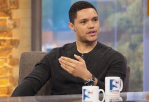 EDITORIAL USE ONLY. NO MERCHANDISING In US Exclusive Rates ApplyMandatory Credit: Photo by Ken McKay/REX/Shutterstock (7524772ah)Trevor Noah'Peston On Sunday' TV show, London, UK - 27 Nov 2016