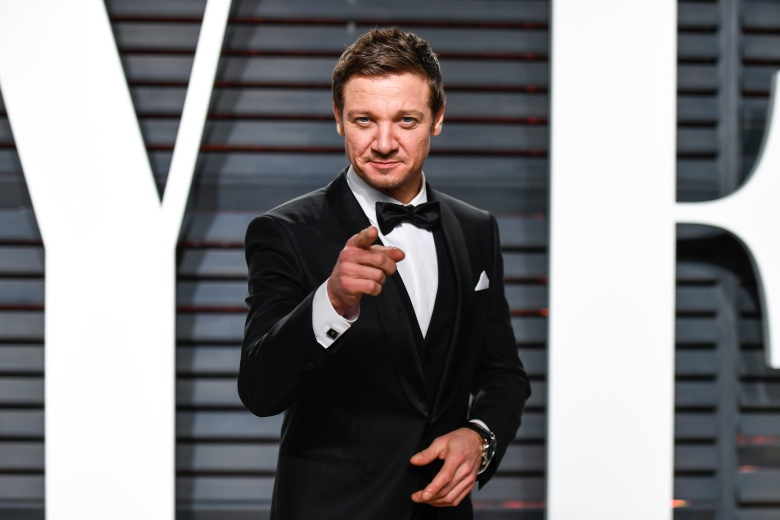 Jeremy Renner Vanity Fair Oscar Party, Los Angeles, USA - 26 Feb 2017
