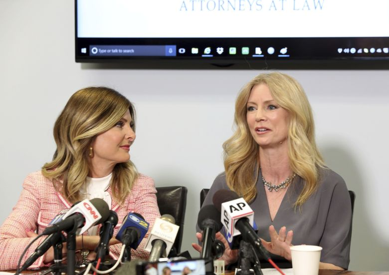 "Copyright 2017 The Associated Press. All rights reserved. This material may not be published, broadcast, rewritten or redistributed without permission.Mandatory Credit: Photo by AP/REX/Shutterstock (8562693c) Former Fox News contributor Wendy Walsh, right, speaks as her attorney Lisa Bloom looks on at a news conference in the Woodland Hills section of Los Angeles on . Walsh says she lost a segment on ""The O'Reilly Factor"" after she refused to go to host Bill O'Reilly's bedroom following a 2013 dinner in Los Angeles. She's seeking an investigation by New York City's Commission on Human Rights TV Fox News, Los Angeles, USA - 03 Apr 2017"