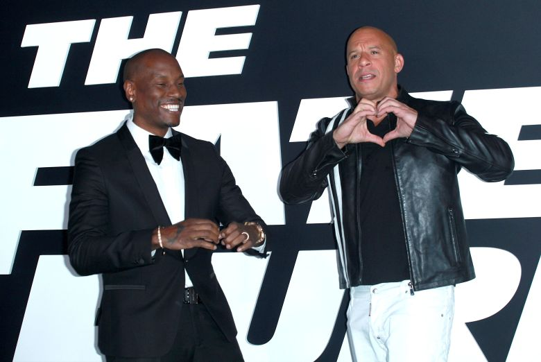 Tyrese Gibson and Vin Diesel Fate of the Furious