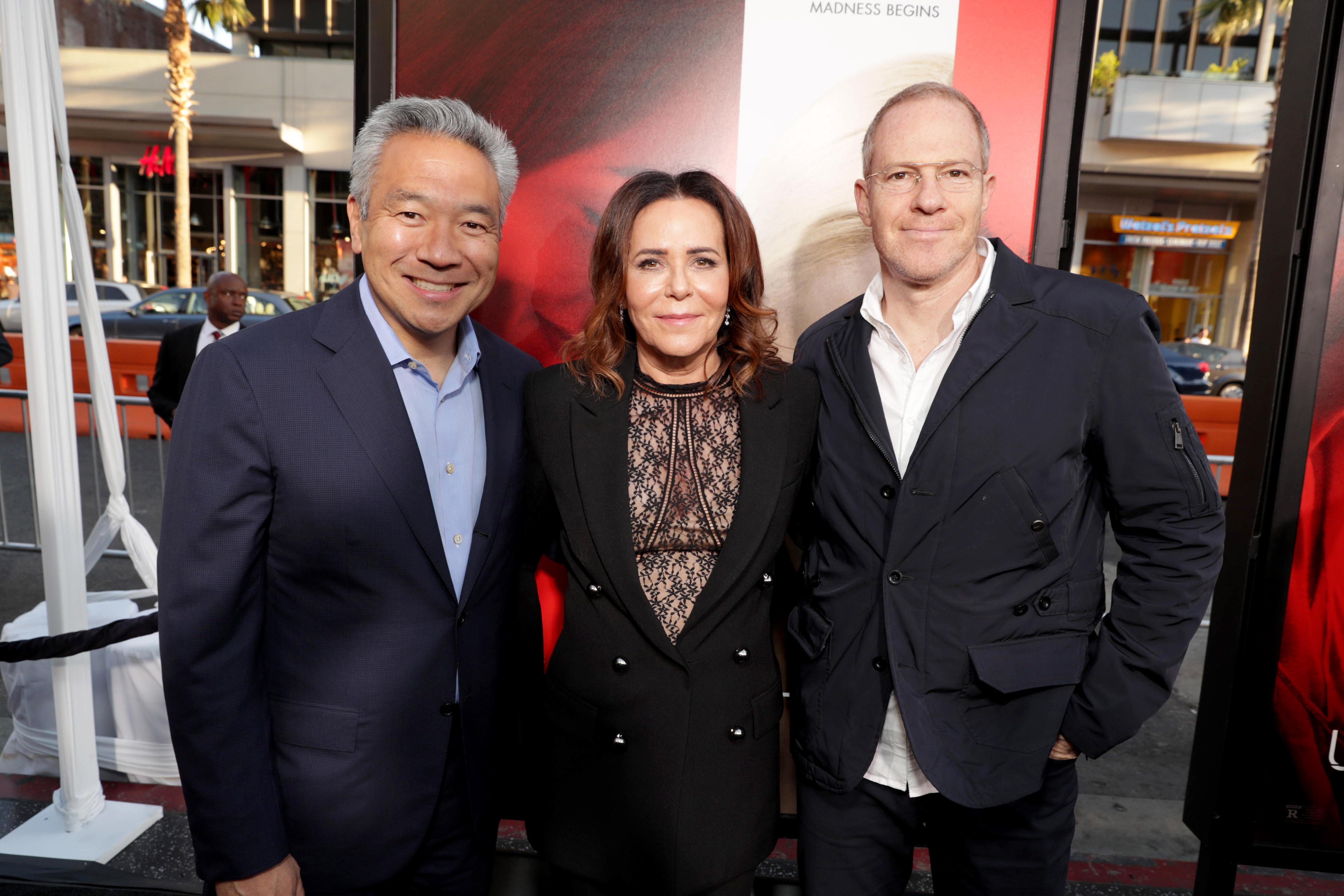Kevin Tsujihara, Denise Di Novi, Toby Emmerich'Unforgettable' film premiere, Arrivals, Los Angeles, USA - 18 Apr 2017