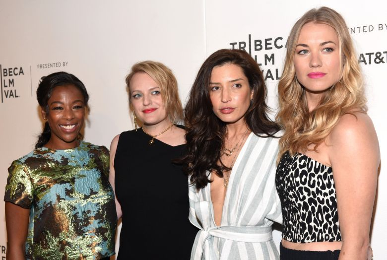 Samira Wiley, Elisabeth Moss, Reed Morano and Yvonne Strahovski'The Handmaid's Tale' TV Show screening, Arrivals, Tribeca Film Festival, New York, USA - 21 Apr 20178622799