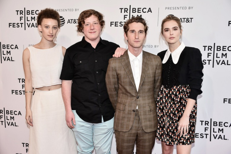 Max Winkler, Maya Eshet, Zoey Deutch, Joey Morgan'Flower' screening, Arrivals, Tribeca Film Festival, New York, USA - 21 Apr 2017