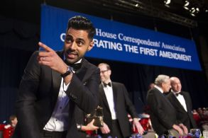Hasan Minhaj Copyright 2017 The Associated Press. All rights reserved. This material may not be published, broadcast, rewritten or redistributed without permission.Mandatory Credit: Photo by AP/REX/Shutterstock (8771901i)The Daily Show correspondent Hasan Minhaj stands at the head table during the White House Correspondents' Dinner in WashingtonCorrespondents Dinner, Washington, USA - 29 Apr 2017