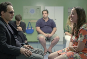 Brandon Polansky as David Cohen and Samantha Elisofon as Sarah Silverstein in KEEP THE CHANGE. Photographer: Giacomo Belletti.