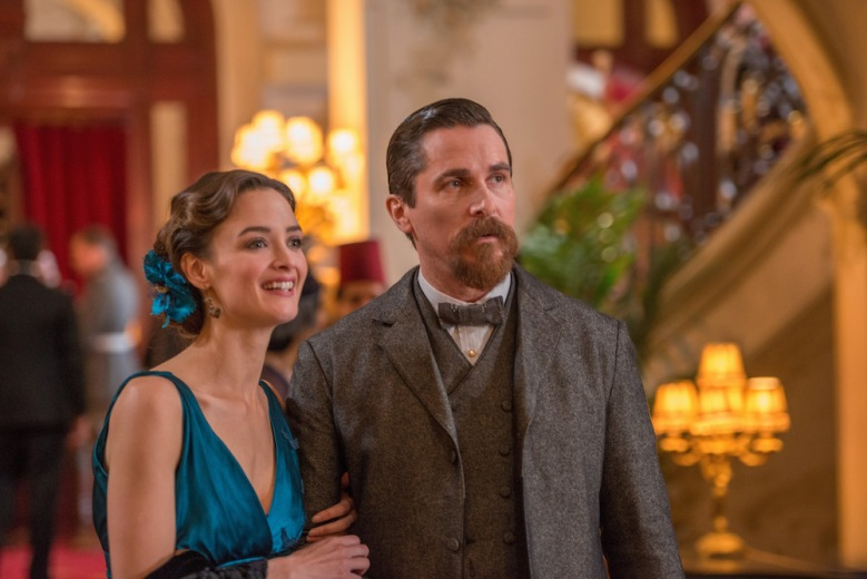 Charlotte Le Bon as Ana Khesarian and Christian Bale as Chris Myers in The Promise. Directed by Terry George.