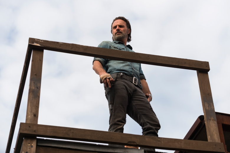 Andrew Lincoln as Rick Grimes - The Walking Dead _ Season 7, Episode 16 - Photo Credit: Gene Page/AMC