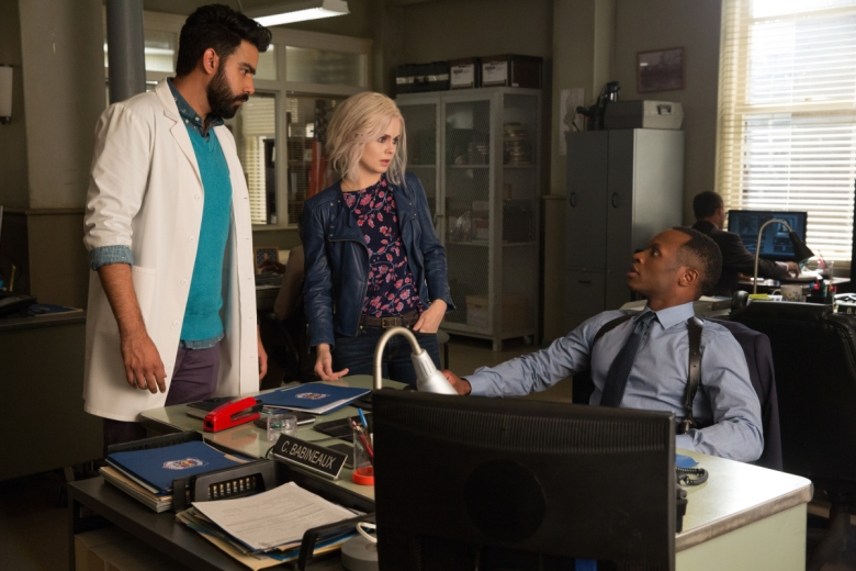 "Rahul Kohli, Rose McIver and Malcolm Goodwin, ""iZombie"""