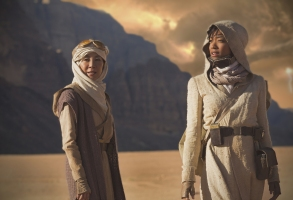 Michelle Yeoh as Captain Philippa Georgiou; Sonequa Martin-Green as First Officer Michael Burnham. STAR TREK: DISCOVERY coming to CBS All Access. Photo Cr: Dalia Naber.