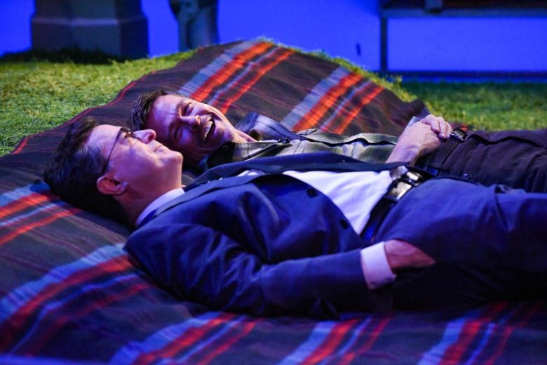 110444_0191.jpg The Late Show with Stephen Colbert 110444_0191.jpg The Late Show with Stephen Colbert and guest Brad Pitt during Tuesday's May 16, 2017 show. Photo: Scott Kowalchyk/CBS ©2017CBS Broadcasting Inc.