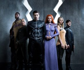 "MARVEL'S INHUMANS - ABC's ""Marvel's Inhumans"" stars Eme Ikwuakor as Gorgon, Ken Leung as Karnak, Anson Mount as Black Bolt, Serinda Swan as Medusa, Isabelle Cornish as Crystal and Iwan Rheon as Maximus. (ABC/Michael Muller)"