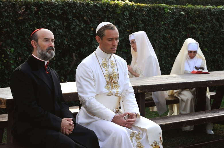 "Javier Camara and Jude Law, ""The Young Pope"""
