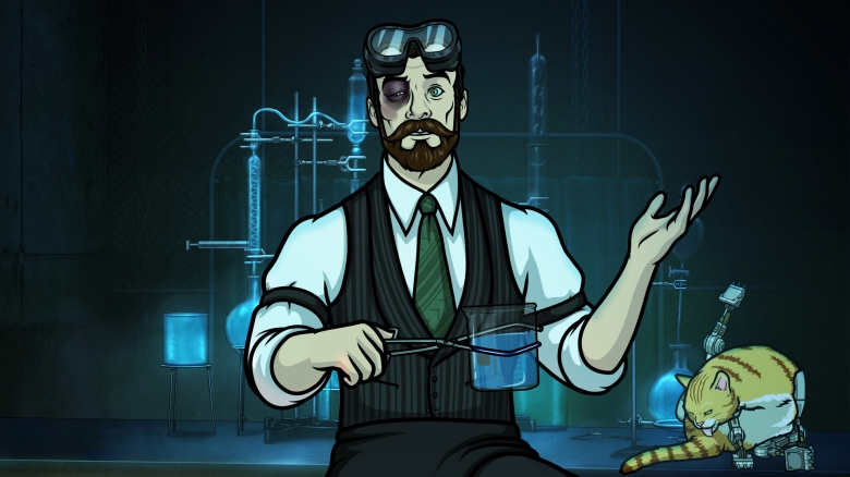 """ARCHER -- """"Auflösung"""" -- Season 8, Episode 8 (Airs May 24, 10:00 pm e/p) Pictured: Dr. Krieger (voice of Lucky Yates). CR: FXX"""