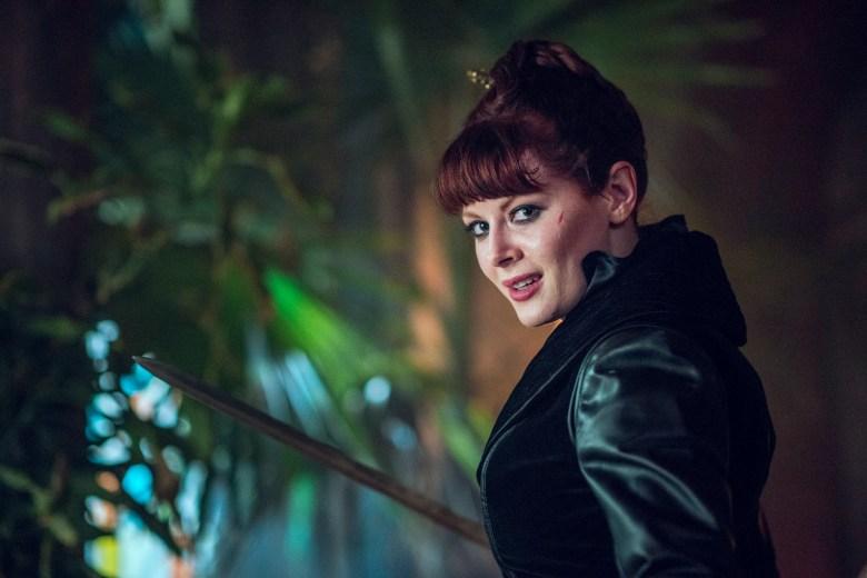 Emily Beecham as The Widow- Into the Badlands _ Season 2, Episode 9 - Photo Credit: Antony Platt/AMC