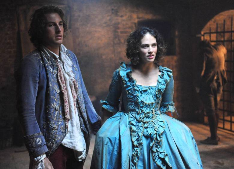 "Rory Fleck Byrne and Jessica Brown Findlay, ""Harlots"""