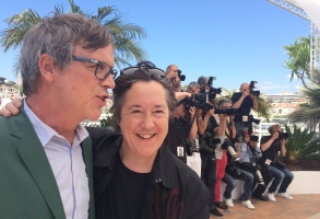 Todd Haynes and Christine Vachon at Cannes 2015