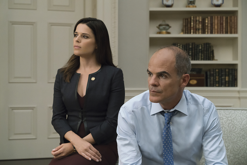 House Of Cards Season 5 Episode 1 Neve Campbell Michael Kelly