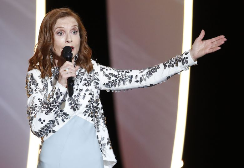 Isabelle Huppert at the Cannes Film Festival 70th anniversary celebration