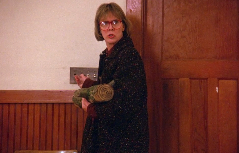 "Catherine Coulson as the Log Lady, ""Twin Peaks"" pilot"