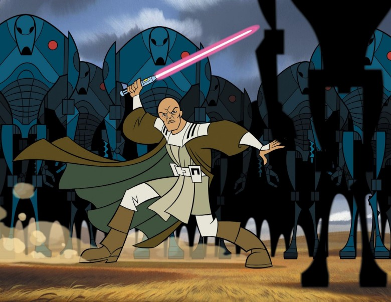 "Mace Windu in ""Star Wars: Clone Wars"""