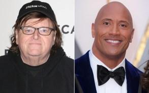 Michael Moore, Dwayne 'The Rock' Johnson